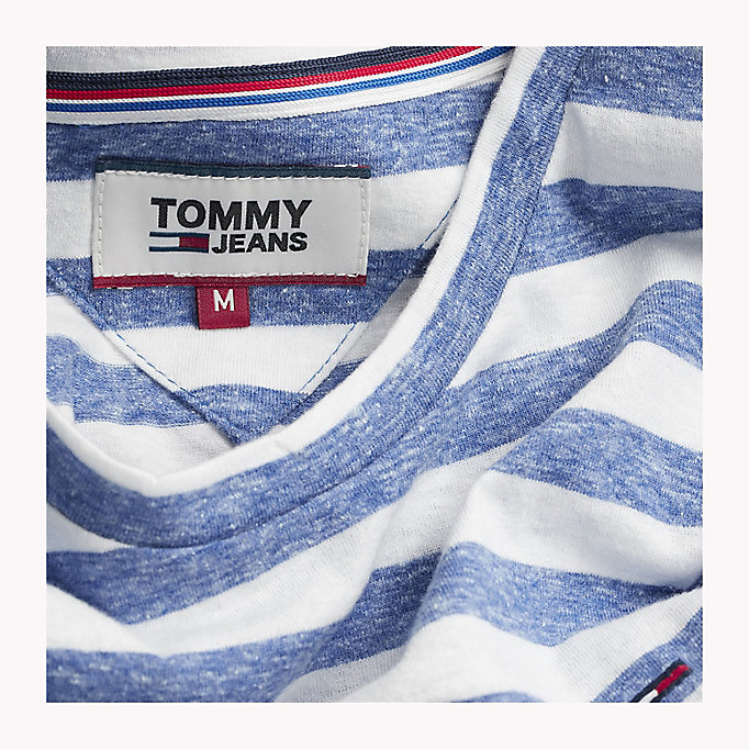 TOMMY JEANS Stripe Jersey T-Shirt - RACING RED - TOMMY JEANS Clothing - detail image 3