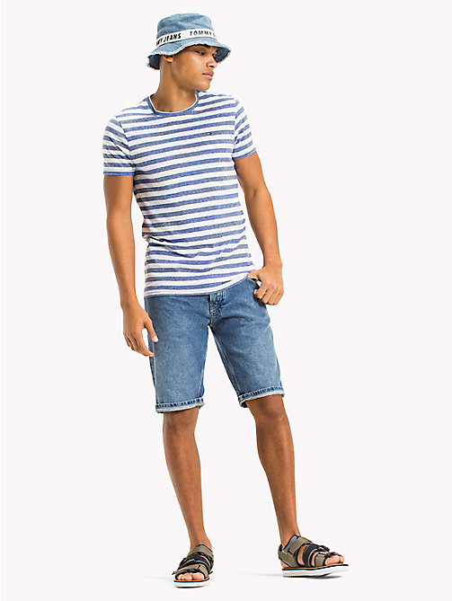 TOMMY JEANS Stripe Jersey T-Shirt - NAUTICAL BLUE - TOMMY JEANS Vacation Style - main image