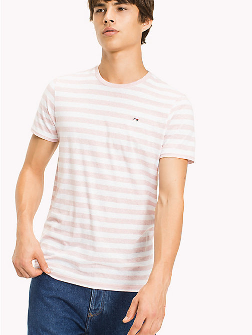 TOMMY JEANS Stripe Jersey T-Shirt - VIOLET ICE - TOMMY JEANS HOMMES - image principale