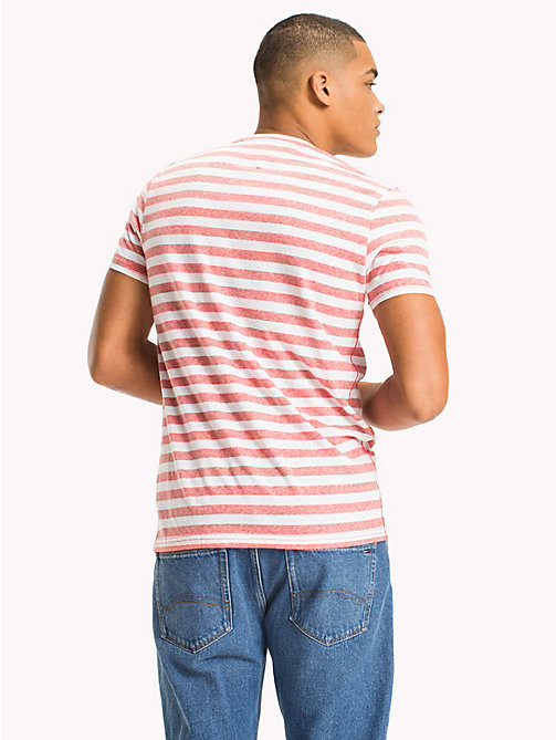 TOMMY JEANS Stripe Jersey T-Shirt - RACING RED - TOMMY JEANS MEN - detail image 1