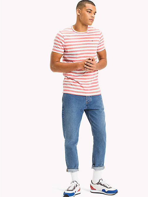 TOMMY JEANS Stripe Jersey T-Shirt - RACING RED - TOMMY JEANS MEN - main image