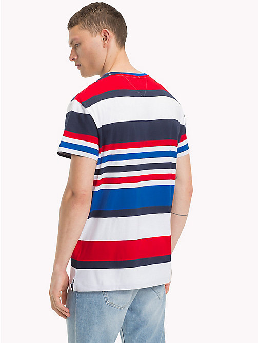 TOMMY JEANS Relaxed Fit T-Shirt mit bunten Streifen - NAUTICAL BLUE / MULTI - TOMMY JEANS Kleidung - main image 1