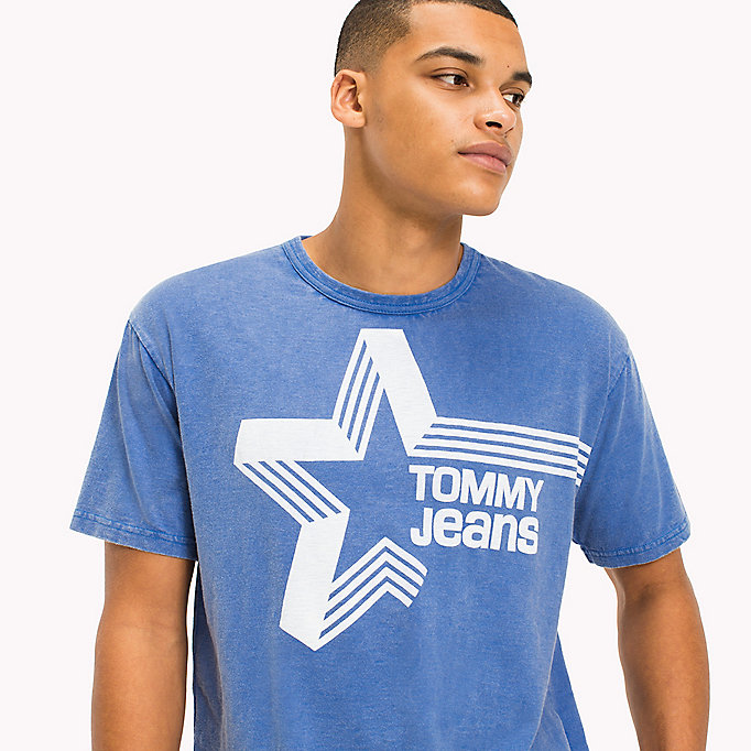 TOMMY JEANS Retro Star Relaxed Fit T-Shirt - BLACK IRIS - TOMMY JEANS Clothing - detail image 2