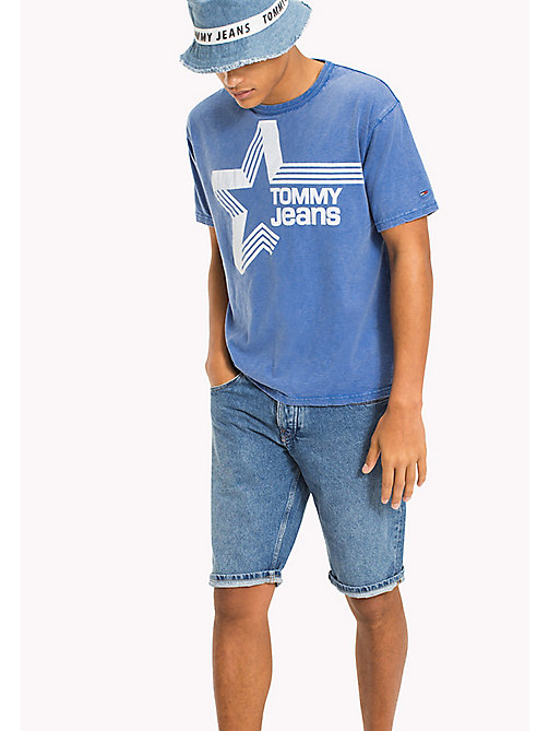 TOMMY JEANS Retro Star Relaxed Fit T-Shirt - NAUTICAL BLUE - TOMMY JEANS T-Shirts & Polos - main image