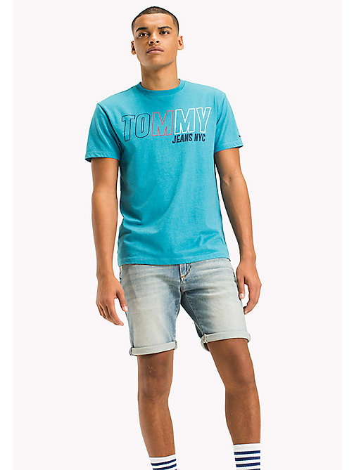 TOMMY JEANS Logo-T-Shirt aus Jersey - MAUI BLUE - TOMMY JEANS T-Shirts & Poloshirts - main image