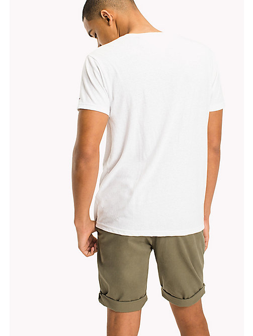 TOMMY JEANS Jersey T-shirt met logo - CLASSIC WHITE - TOMMY JEANS T-Shirts &  Polo's - detail image 1