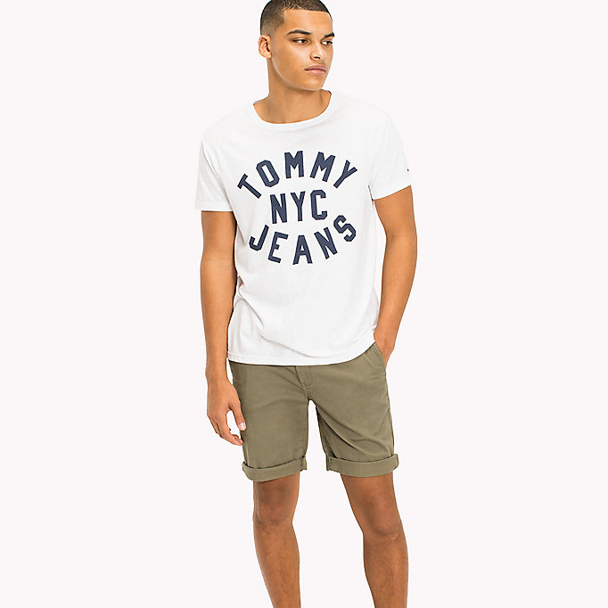 TOMMY JEANS T-shirt in jersey con logo - NAUTICAL BLUE - TOMMY JEANS Uomini - immagine principale