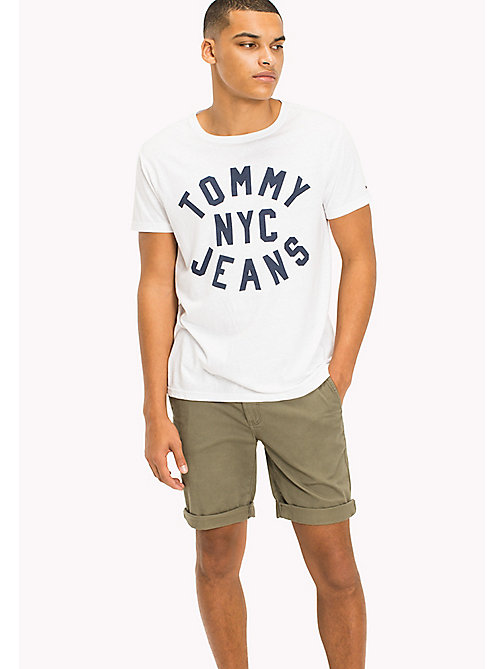 TOMMY JEANS Jersey T-shirt met logo - CLASSIC WHITE - TOMMY JEANS T-Shirts &  Polo's - main image