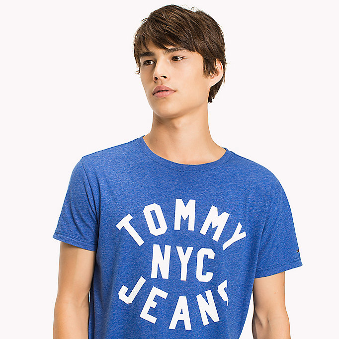 TOMMY JEANS Jersey Logo T-Shirt - MAUI BLUE - TOMMY JEANS Men - detail image 2