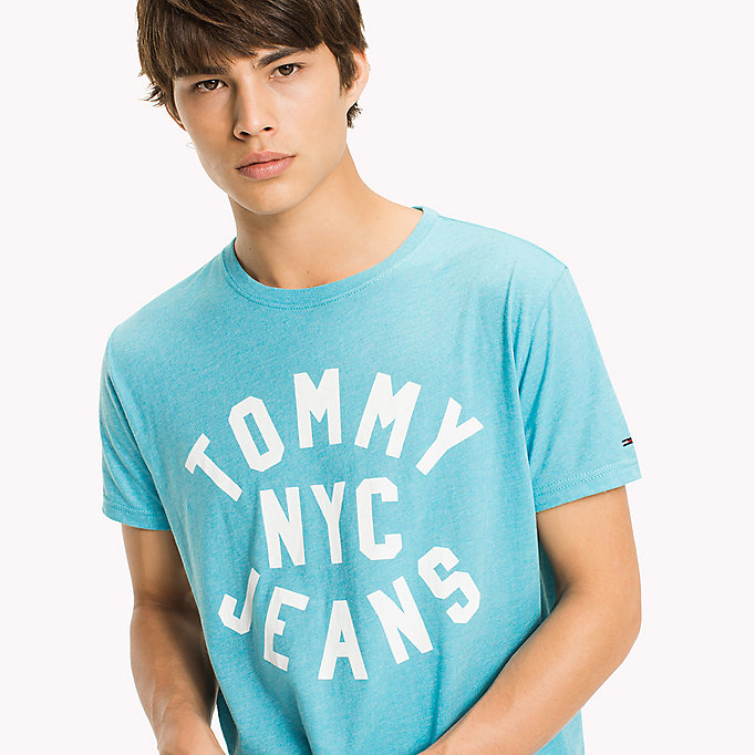 TOMMY JEANS Jersey Logo T-Shirt - JELLY BEAN - TOMMY JEANS Men - detail image 2