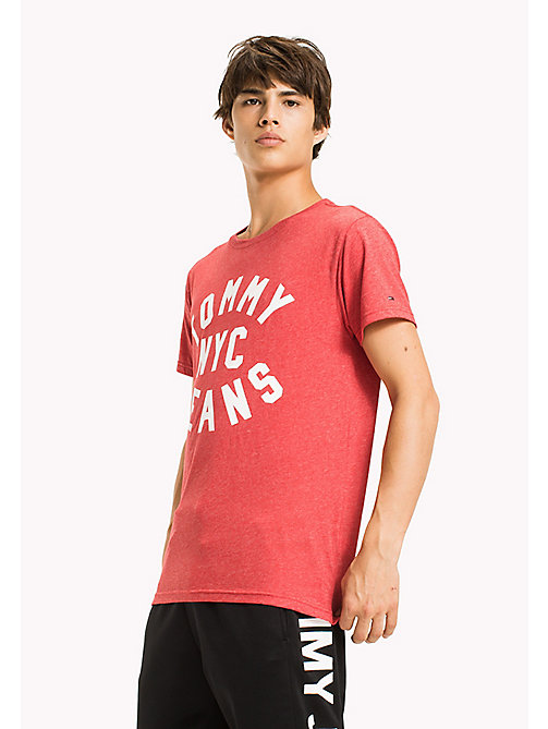 TOMMY JEANS Jersey Logo T-Shirt - RACING RED - TOMMY JEANS HOMMES - image principale