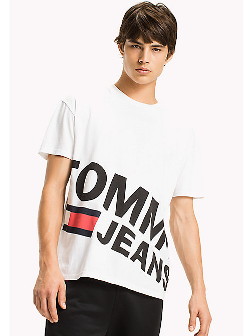 TOMMY JEANS Relaxed Fit T-Shirt - CLASSIC WHITE - TOMMY JEANS Sustainable Evolution - main image