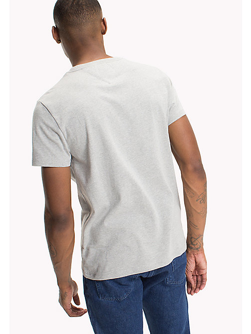 TOMMY JEANS Relaxed Fit Logo T-Shirt - LT GREY HTR -  MEN - detail image 1