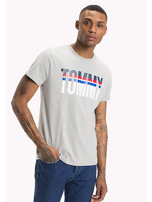 TOMMY JEANS Relaxed Fit Logo T-Shirt - LT GREY HTR -  MEN - main image