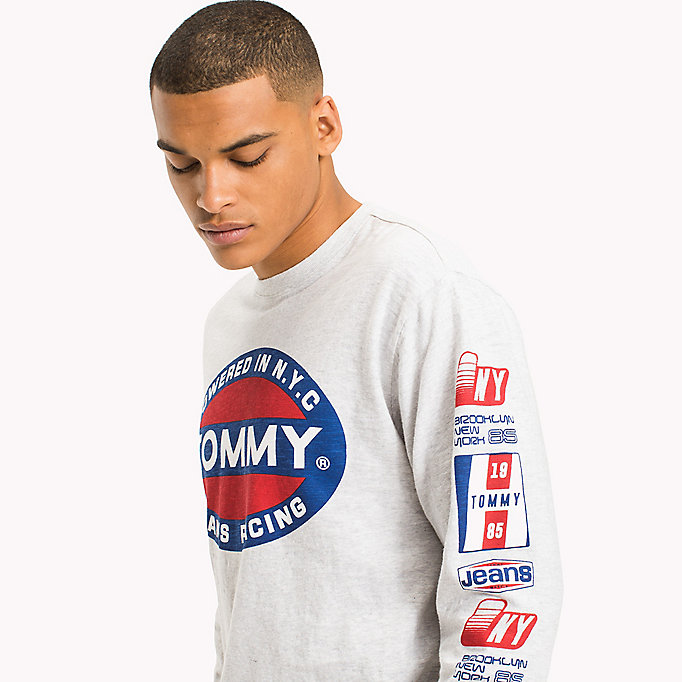 TOMMY JEANS Long Sleeve T-Shirt - CLASSIC WHITE - TOMMY JEANS Men - detail image 2