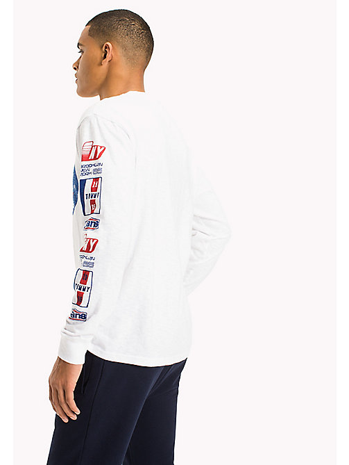 TOMMY JEANS Long Sleeve T-Shirt - CLASSIC WHITE - TOMMY JEANS MEN - detail image 1