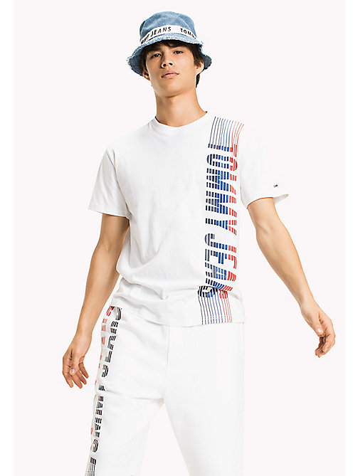 TOMMY JEANS Jersey Regular Fit T-Shirt - CLASSIC WHITE - TOMMY JEANS Sustainable Evolution - main image