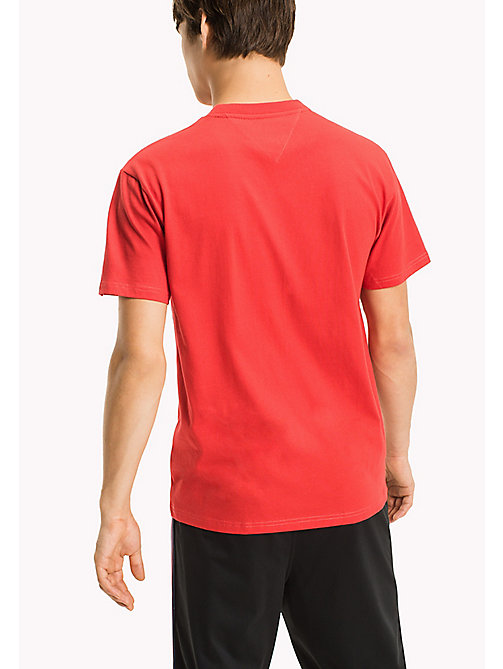 TOMMY JEANS Jersey Regular Fit T-Shirt - RACING RED - TOMMY JEANS Sustainable Evolution - detail image 1