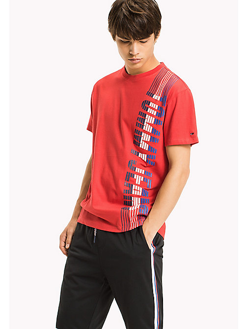 TOMMY JEANS T-shirt in jersey regular fit - RACING RED - TOMMY JEANS Sviluppo-sostenibile - immagine principale