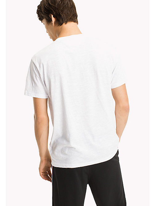 TOMMY JEANS Regular Fit Logo T-Shirt - CLASSIC WHITE - TOMMY JEANS MEN - detail image 1