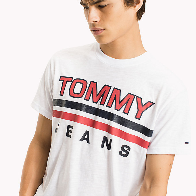 TOMMY JEANS Regular Fit Logo T-Shirt - BLACK IRIS - TOMMY JEANS Clothing - detail image 2