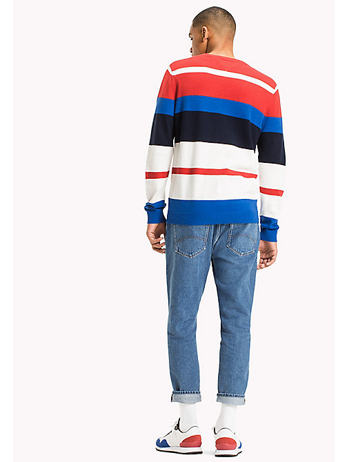 TOMMY JEANS Multi Stripe Jumper - RACING RED / MULTI - TOMMY JEANS MEN - detail image 1