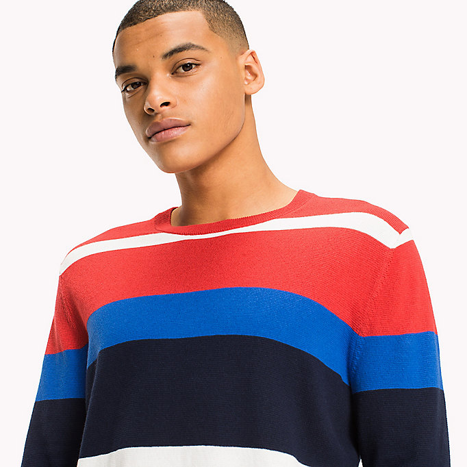 TOMMY JEANS Gestreept sweatshirt - JELLY BEAN / MULTI - TOMMY JEANS Heren - detail image 2