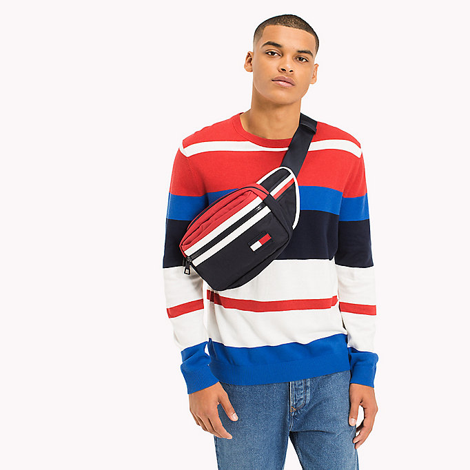 TOMMY JEANS Gestreept sweatshirt - JELLY BEAN / MULTI - TOMMY JEANS Heren - main image