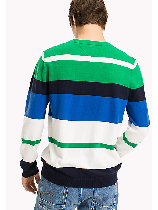 TOMMY JEANS Multi Stripe Jumper - JELLY BEAN / MULTI - TOMMY JEANS MEN - detail image 1