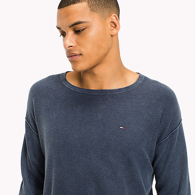 TOMMY JEANS Cotton Waffle Relaxed Fit Jumper - VIOLET ICE - TOMMY JEANS Men - detail image 2