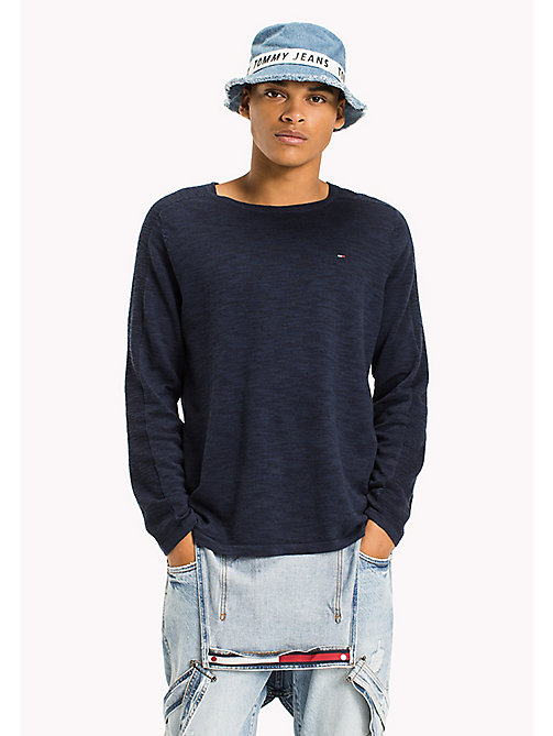 TOMMY JEANS Linen Blend Ribbed Jumper - BLACK IRIS - TOMMY JEANS Jumpers - main image
