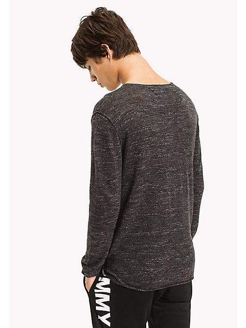 TOMMY JEANS Jersey Relaxed Fit Sweater - TOMMY BLACK - TOMMY JEANS MEN - detail image 1