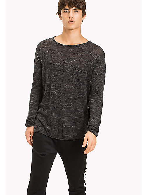 TOMMY JEANS Jersey Relaxed Fit Sweater - TOMMY BLACK - TOMMY JEANS MEN - main image