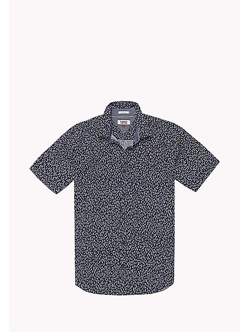 TOMMY JEANS Printed Short Sleeve Shirt - LADDER DITSY / BLACK IRIS - TOMMY JEANS MEN - detail image 1