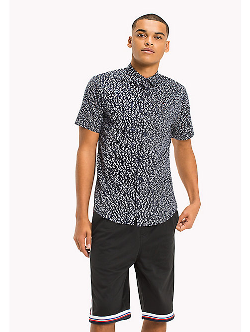 TOMMY JEANS Printed Short Sleeve Shirt - LADDER DITSY / BLACK IRIS - TOMMY JEANS Vacation Style - main image