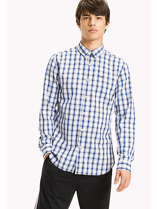 TOMMY JEANS Regular Fit Check Shirt - NAUTICAL BLUE / MULTI - TOMMY JEANS HOMBRES - imagen principal