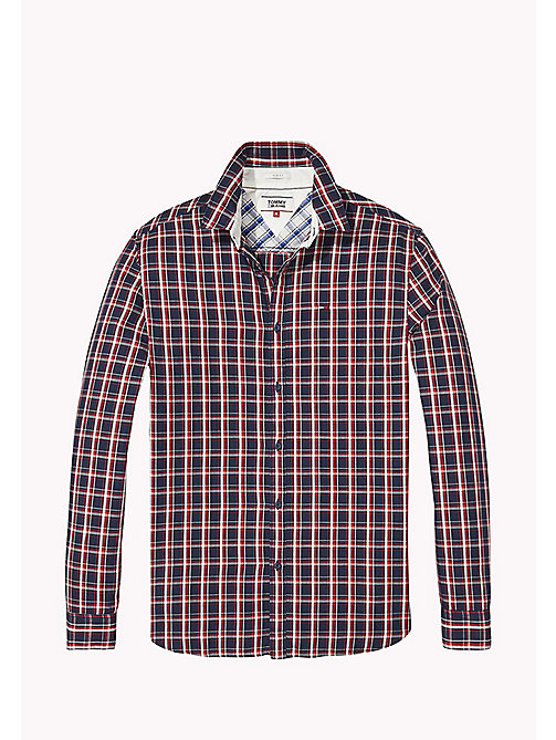TOMMY JEANS Regular Fit Check Shirt - BLACK IRIS / MULTI - TOMMY JEANS Shirts - detail image 1