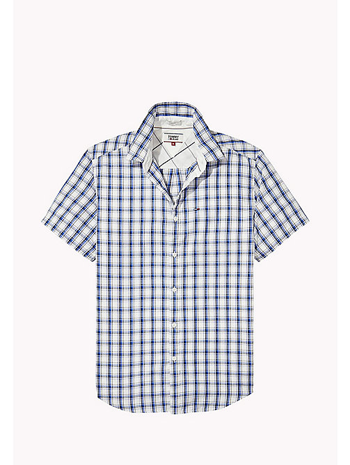 TOMMY JEANS Regular Fit Short Sleeve Check Shirt - NAUTICAL BLUE / MULTI - TOMMY JEANS Shirts - detail image 1