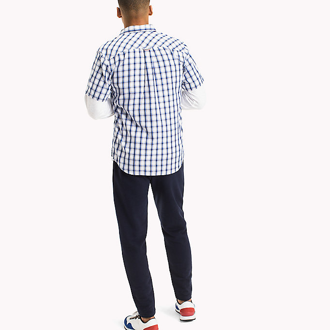 TOMMY JEANS Regular Fit Short Sleeve Check Shirt - BLACK IRIS MULTI - TOMMY JEANS Clothing - detail image 2