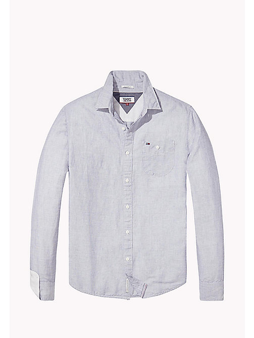 TOMMY JEANS Regular Fit Linen Shirt - LIGHT BLUE - TOMMY JEANS Shirts - detail image 1