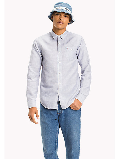 TOMMY JEANS Regular Fit Linen Shirt - LIGHT BLUE - TOMMY JEANS HOMBRES - imagen principal