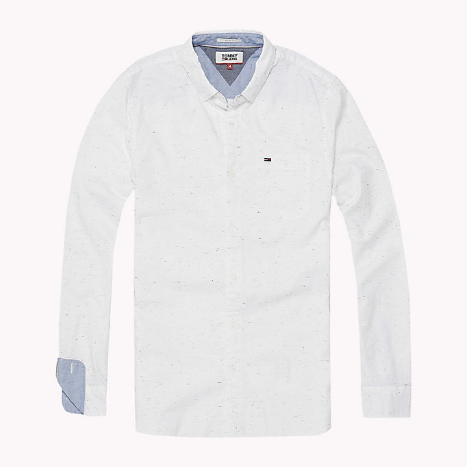 TOMMY JEANS Slim Fit Shirt - NAUTICAL BLUE - TOMMY JEANS Men - detail image 1