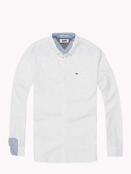 TOMMY JEANS Slim Fit Shirt - CLASSIC WHITE - TOMMY JEANS MEN - detail image 1