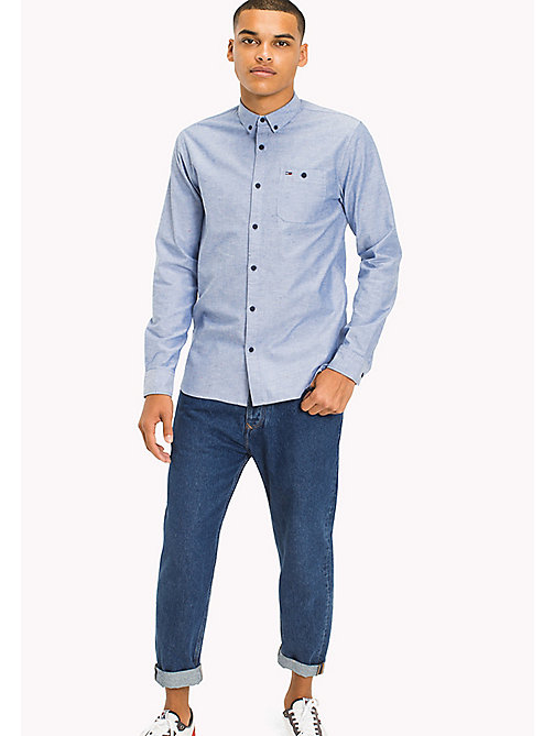 TOMMY JEANS Slim Fit Shirt - NAUTICAL BLUE - TOMMY JEANS MEN - main image