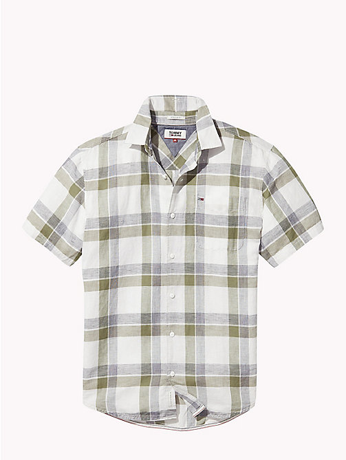 TOMMY JEANS Cotton Blend Check Shirt - DEEP LICHEN - TOMMY JEANS MEN - detail image 1