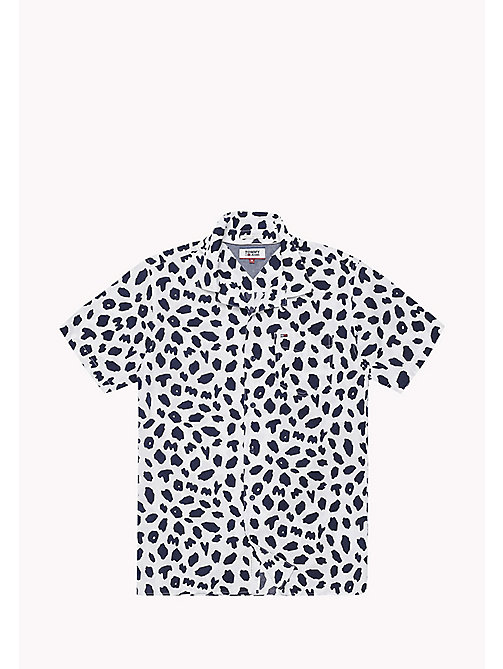 TOMMY JEANS Animal Print Relaxed Fit Shirt - ANIMAL PRINT CLASSIC WHITE - TOMMY JEANS Vacation Style - detail image 1