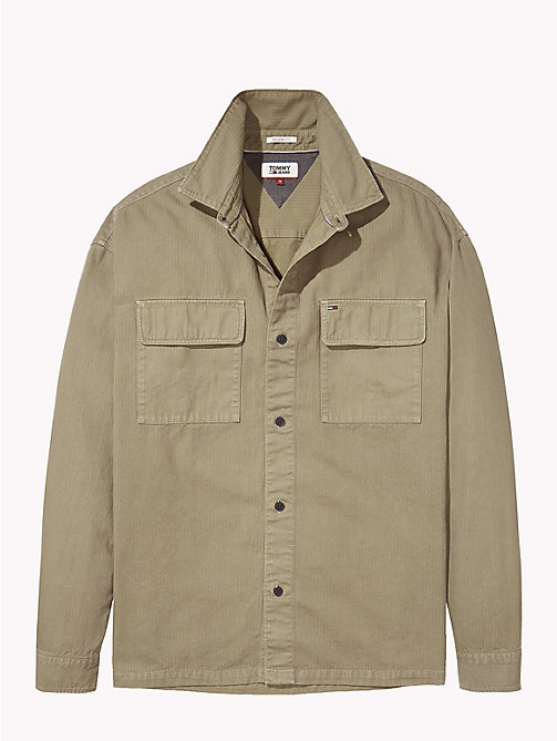 TOMMY JEANS Cotton Workwear Shirt - DEEP LICHEN - TOMMY JEANS Shirts - detail image 1