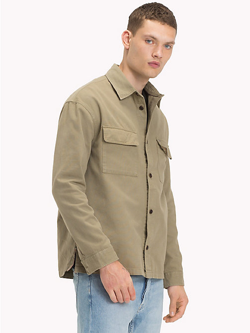 TOMMY JEANS Cotton Workwear Shirt - DEEP LICHEN - TOMMY JEANS Shirts - main image