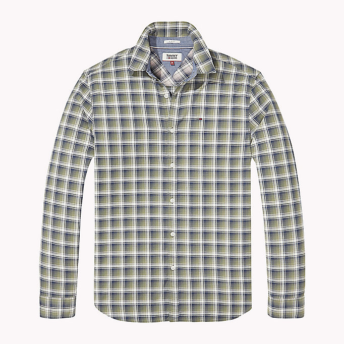 TOMMY JEANS Slim Fit Check Shirt - NAUTICAL BLUE - TOMMY JEANS Clothing - detail image 1