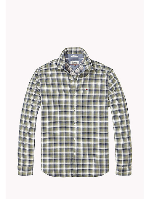 TOMMY JEANS Slim Fit Check Shirt - DEEP LICHEN - TOMMY JEANS MEN - detail image 1